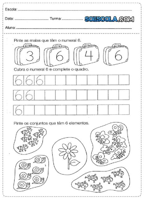 Diversas atividades de matemática para ensino fundamental