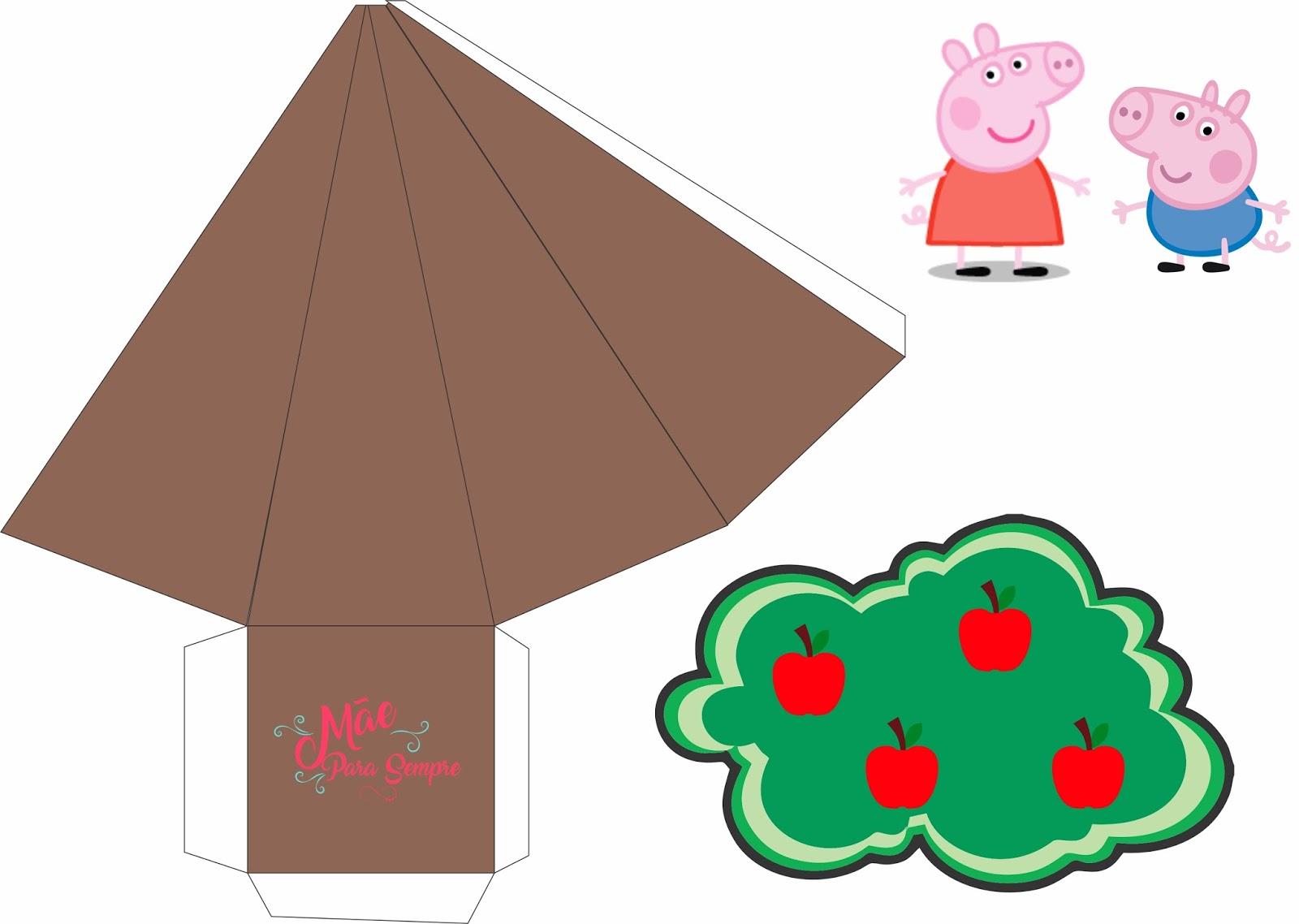 Kit Digital Para Imprimir Peppa E George Pig Mae Para Sempre