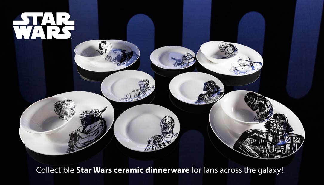 zak designs star wars ceramic & Zak Releases Line of Ceramic Tableware Featuring Iconic Scenes from ...