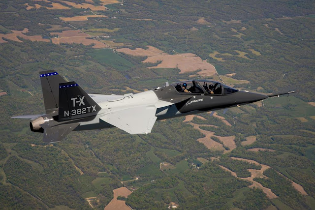 SECOND BOEING T-X TRAINER JET TAKES FLIGHT