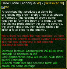 naruto castle defense 6.0 Itachi crow clone technique detail