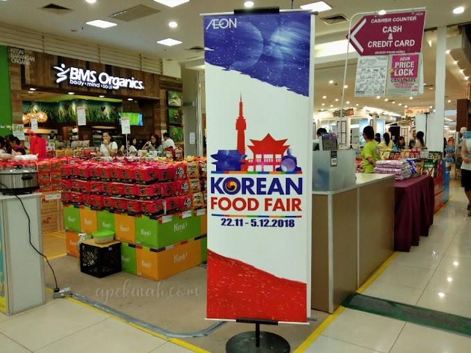 Beli Samyang Topokki dan Bulgogi di Korean Food Fair Aeon Kepong