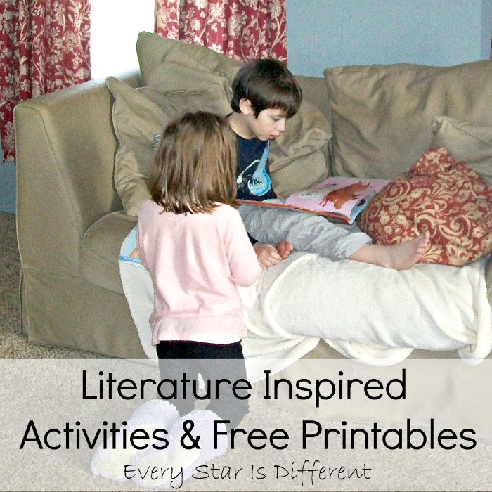 Literature Inspired Activities & Free Printables