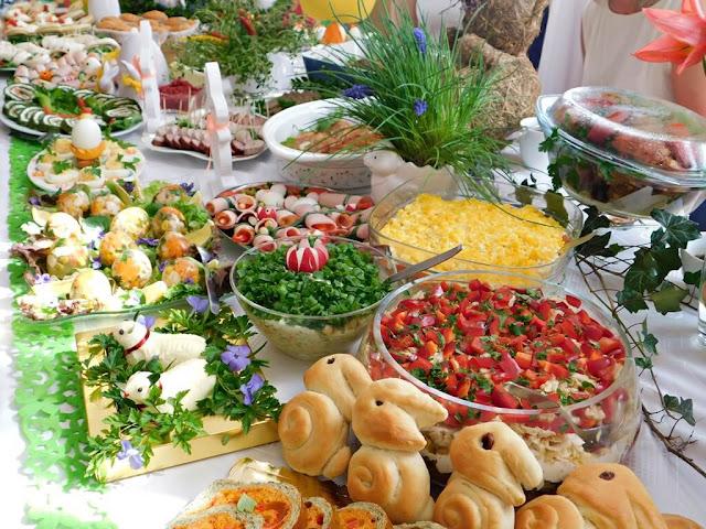świąteczne potrawy koła gospodyń w Nowym Kramsku