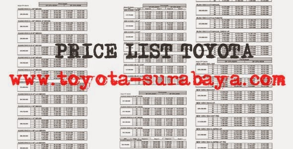 Fitur Grand New Avanza 2016 All Kijang Innova 2.0 V A/t Lux Price List: Daftar Harga Mobil Toyota Surabaya