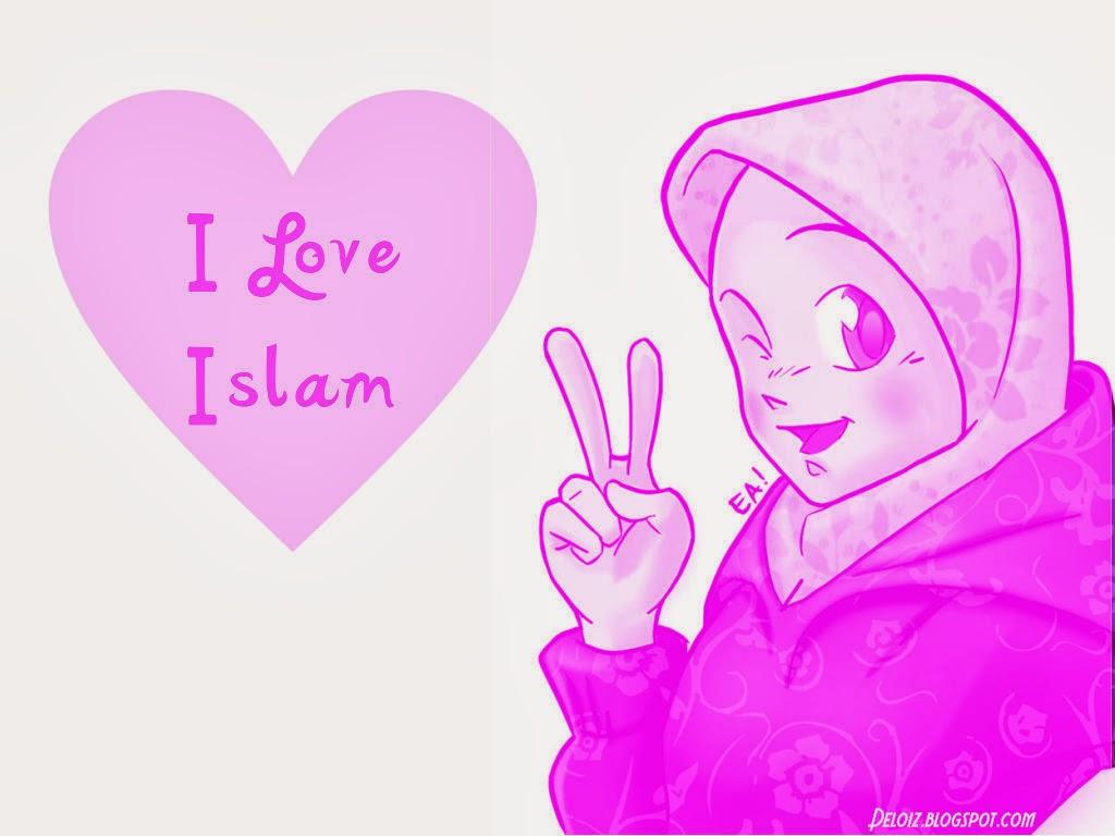 Wallpaper Atau DP BBM Muslimah Cute Khusus Android 2015