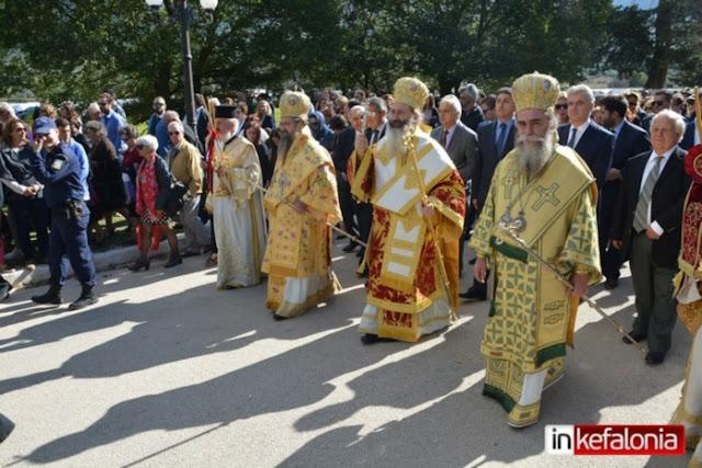 Στις εορταστικές εκδηλώσεις στην Κεφαλλονιά για τον Άγιο Γεράσιμο ο Μητροπολίτης Άρτης Καλλίνικος (βίντεο)