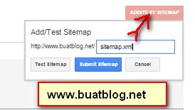 silahkan Submit Sitemap Blog Anda di Google Webmasters Tools disini