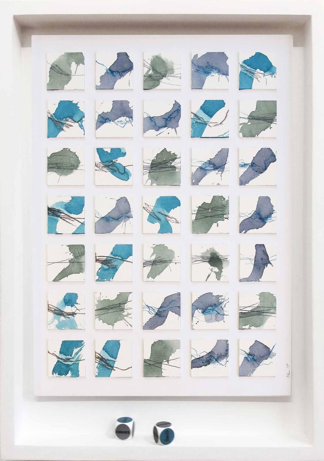 35 mini-peintures dans un A3, Pinacothèque Genève 2015