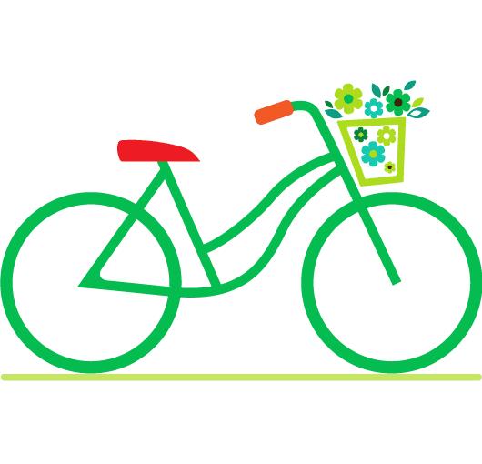 Bicicleta verde - Vector