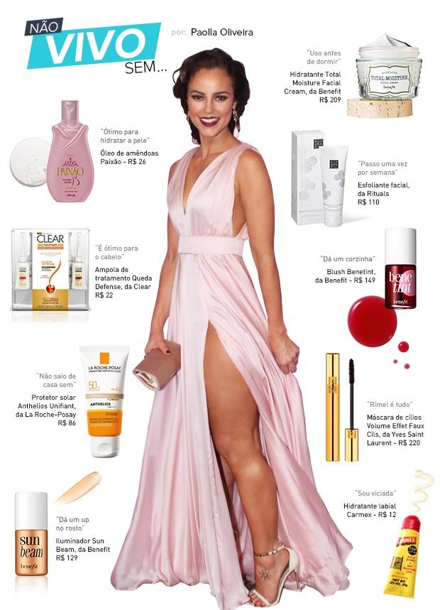202e921e69ddc0 Quando se trata dos produtinhos de beleza para pele, corpo e cabelos, a  atriz não é diferente. Para o EGO, ela abriu a nécessaire e revelou quais  são os ...