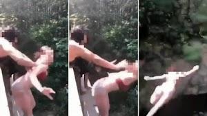 Adolescente fica seriamente ferida após ser empurrada de ponte