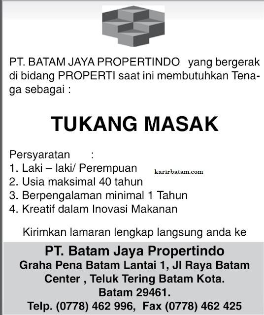 Lowongan Kerja PT. Batam Jaya Propertindo
