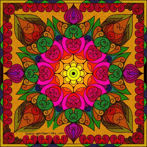 gambar motif mandala