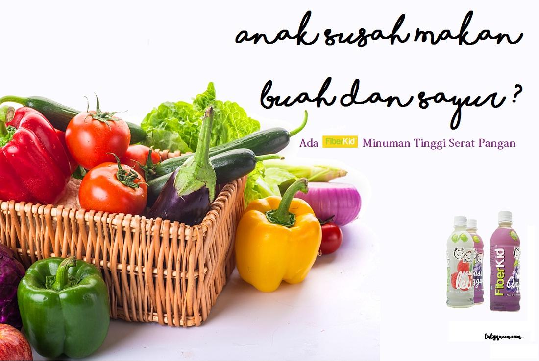 FiberKid minuma serat makan untuk anak yang susah makan sayur dan buah