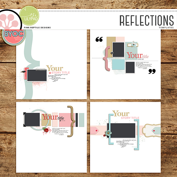 REFLECTIONS | TEMPLATES by Pink Reptile Designs