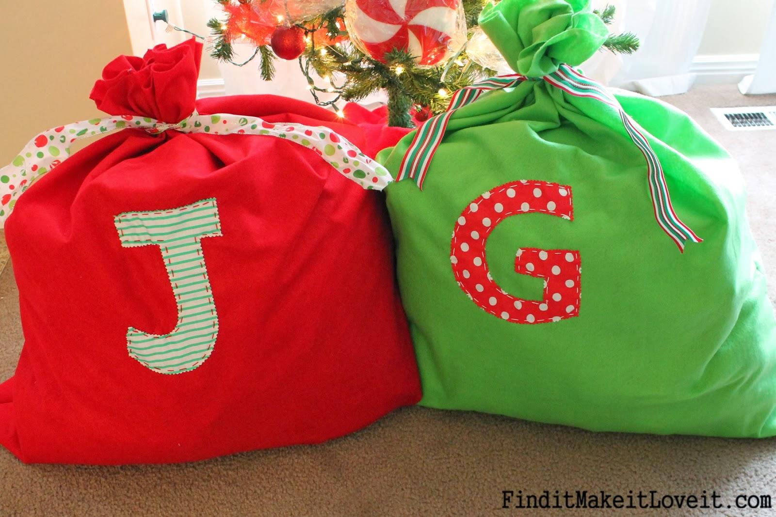 Easy Diy Santa Bag