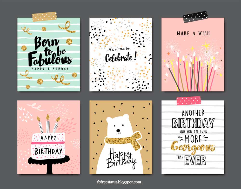 Birthday greeting cards.
