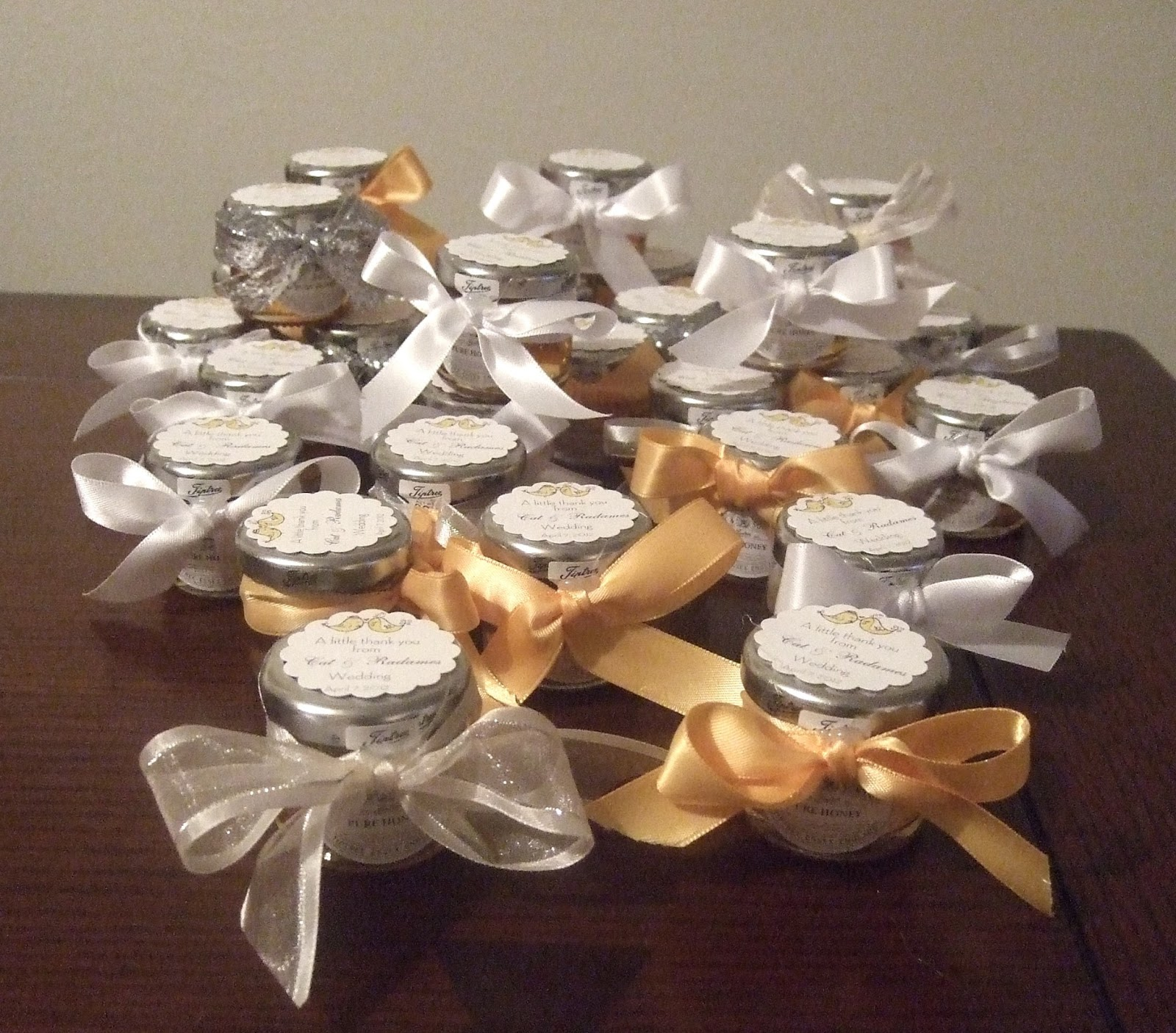 Ana silk flowers wedding favors honey in a jar ideas for Wedding favor supplies