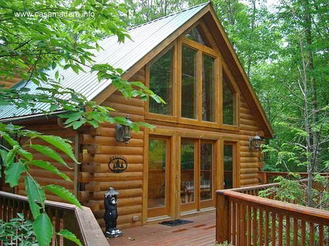 Casa de madera de cedro blanco