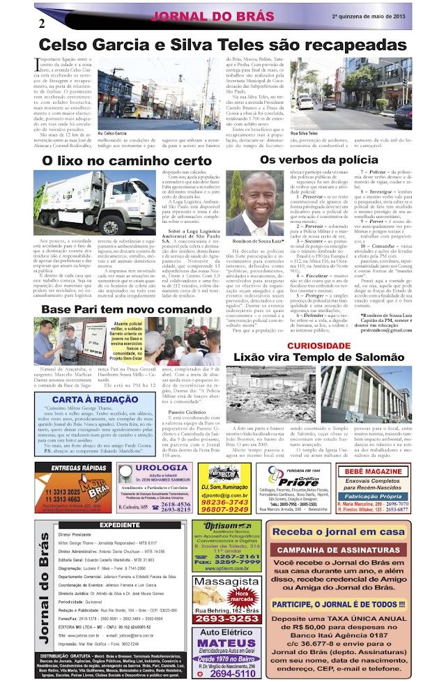 Destaques da Ed. 229 - Jornal do Brás