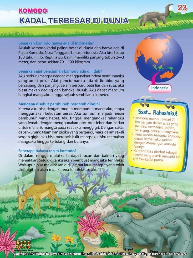 Komodo adalah Kadal Terbesar di Dunia