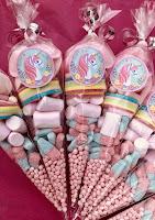 dulces con unicornios