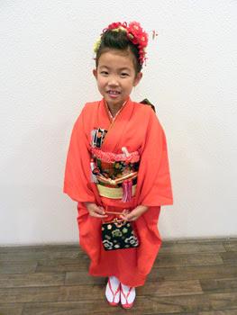 七五三~七歳・着付け&アレンジ~