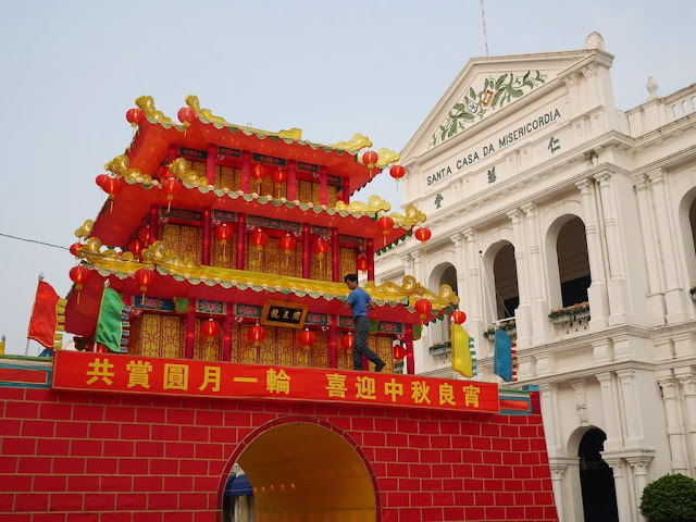 preparations for Mid-Autumn festival in Macau