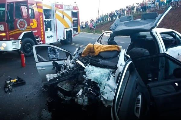 Duas mortes e três pessoas gravemente feridas em acidente na BR 282, em SC