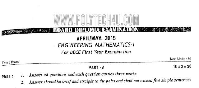 C-14 DECE APRIL/MAY-2015 102- ENGINEERING MATHEMATICS-1 PREVIOUS QUESTIONPAPER