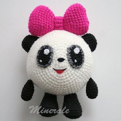Малышарик Панда амигуруми крючком