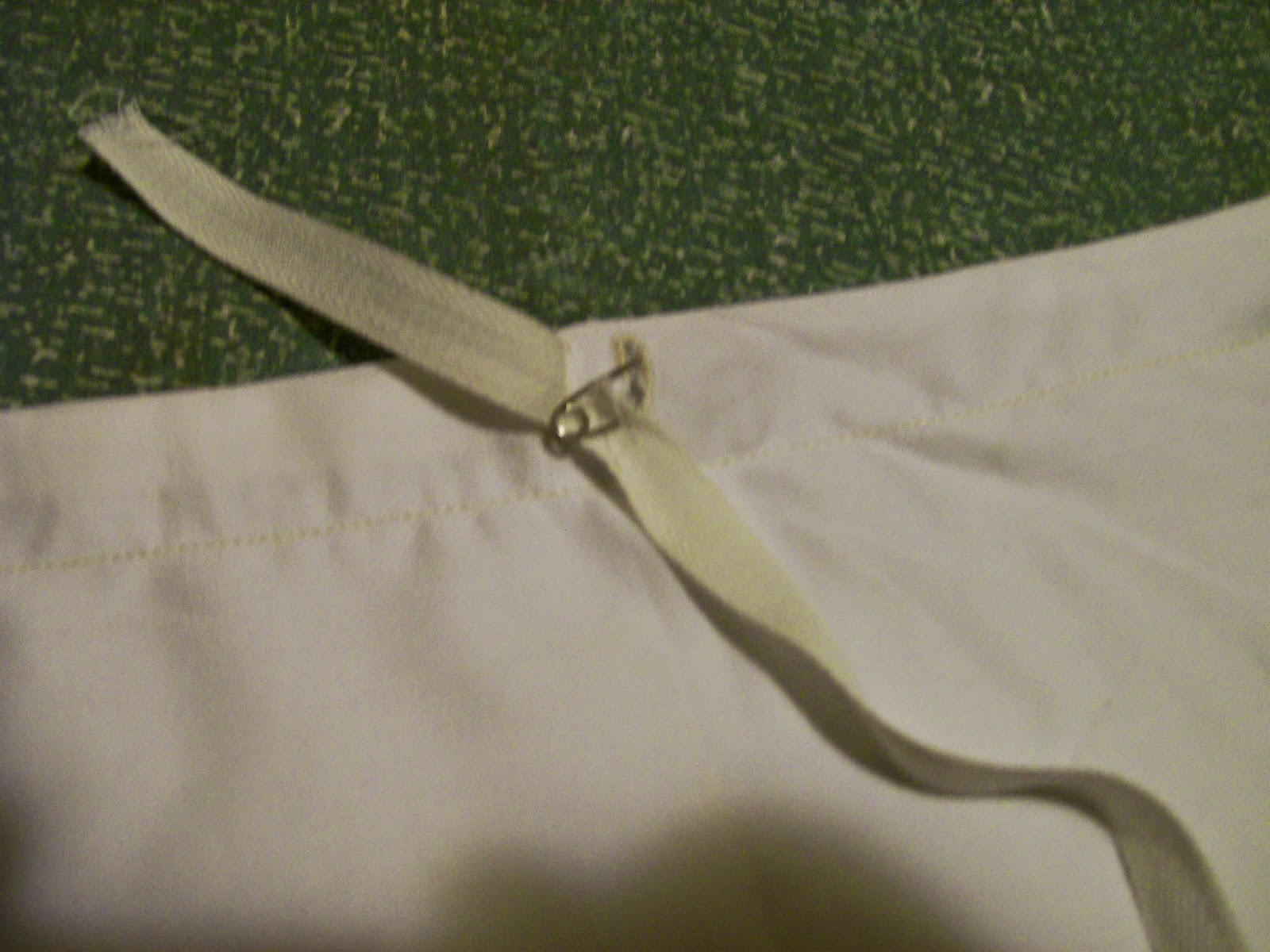 Petticoat bodice upper drawstring.