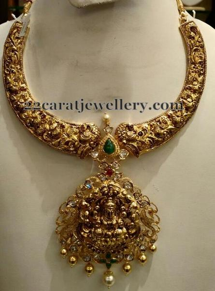 Filigree Work Nakshi Necklace Jewellery Designs