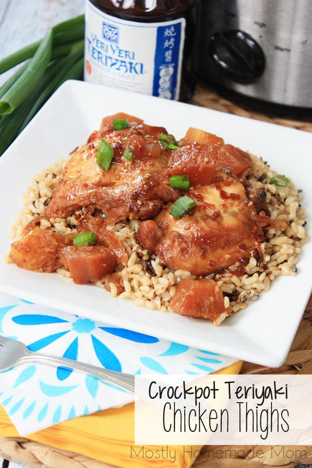Crockpot Teriyaki Chicken Thighs