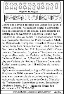 Texto sobre o Parque Olímpico