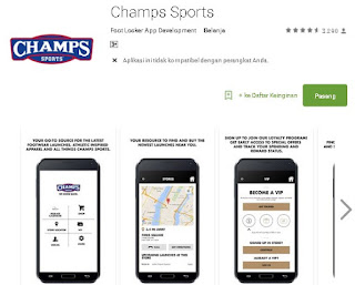 Champs Shoe Store application locators
