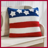 Cojín USA a crochet
