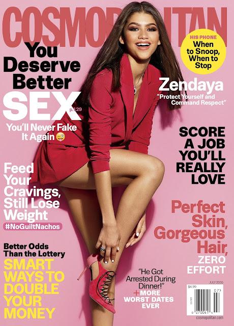 Actress, Singer, @ Zendaya Coleman - Cosmopolitan magazine, July 2016