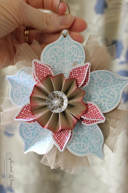 Stampin' Up! Christmas Ornament by Susan Wong
