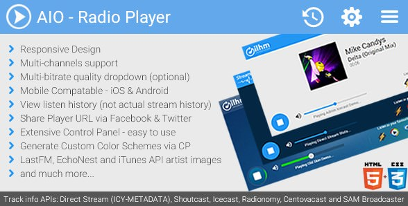 AIO Radio Station Player v1.14