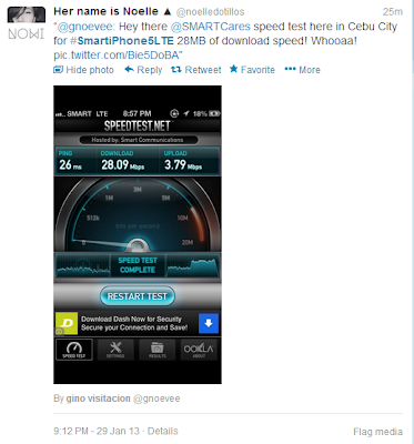 Smart iPhone 5 LTE Speedtest Cebu City