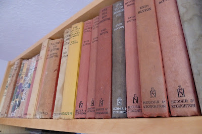 Old books on a bookshelf