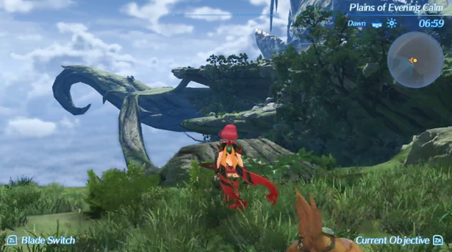 Xenoblade Chronicles 2 giraffe titan land body back area Pyra