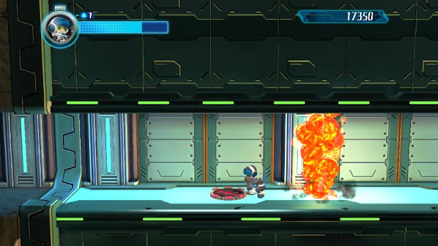 Mighty No. 9 cheese explosions in-game Beck Wii U version graphics