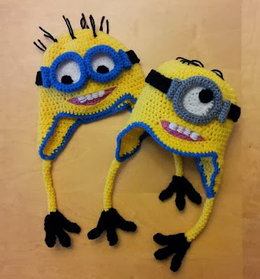 Crochet Despicable Me Minion hats for Halloween Minion costumes