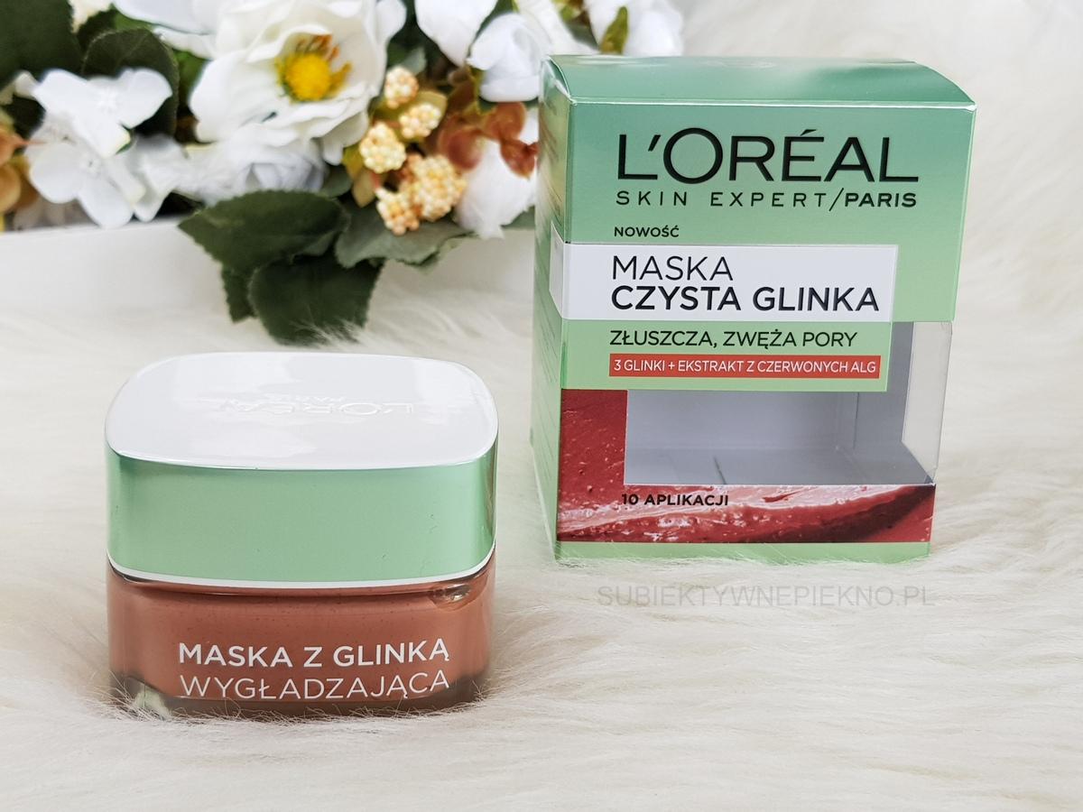 LOreal Czysta Glinka - czerwona maska wygładzająca