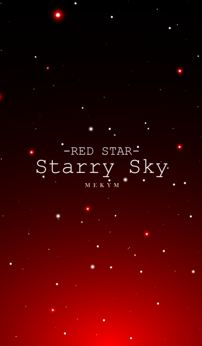 Starry Sky RED STAR