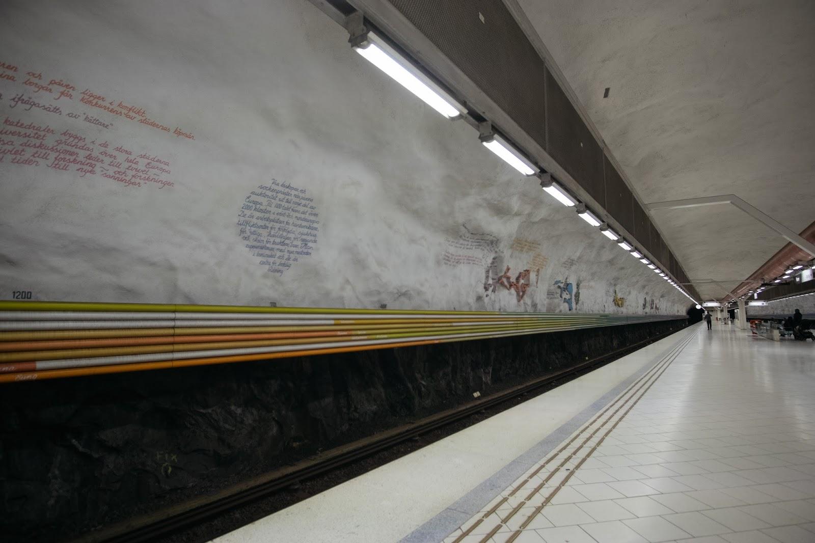 Najpiękniejsze stacje metra w Szwecji