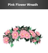 stardoll pink flower wreath